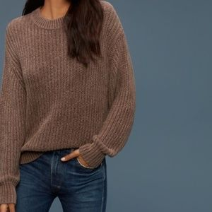 Wilfred Salette Relaxed Sweater Size M Mauve Brown